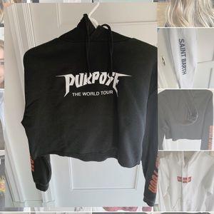 purpose tour cropped hoodie